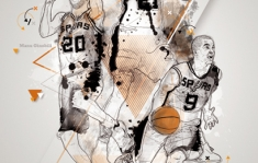NBA TRIBUTE SPURS K.BRYANT LEBRON JAMES